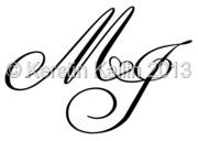 Monograms With Letters J And M